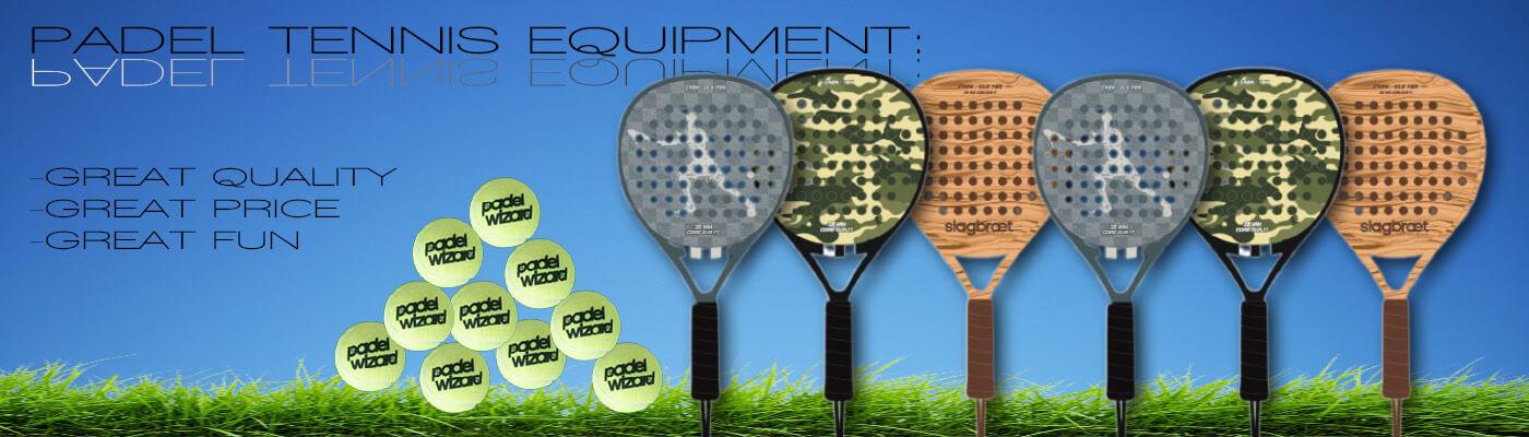 Padel rackets balls