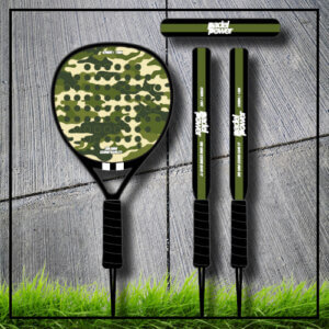 Padel tennis racket camouflage camo green carbon