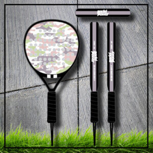 Padel tennis racket camouflage camo rose pastel carbon