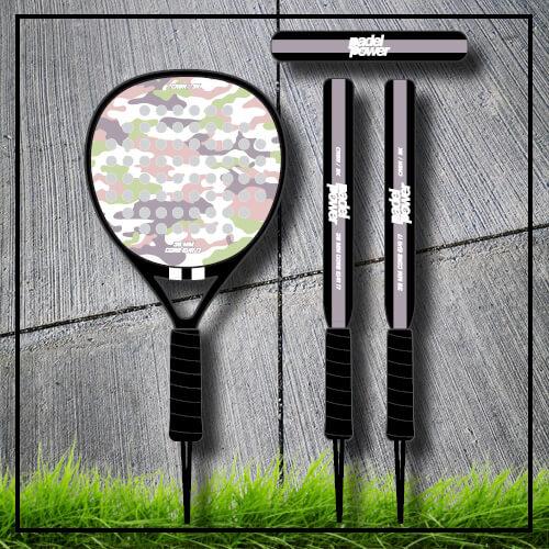 Padel tennis racket camouflage camo rose pastel carbon