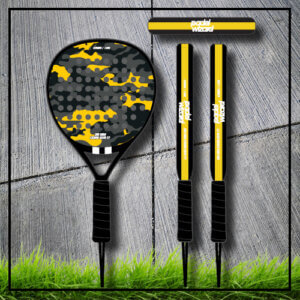 Padel tennis racket camouflage yellow carbon