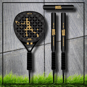 Padel tennis racket Square black gold carbon
