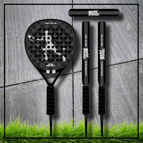 padel tennis racket Square black grey carbon