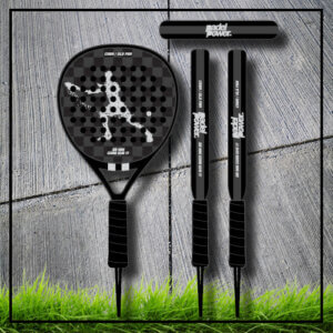 padel tennis racket Square black silver carbon
