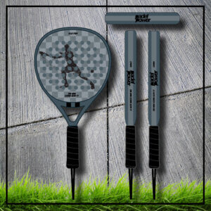padel tennis racket Square grey grey carbon