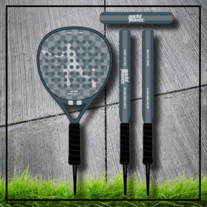 padel tennis racket Square grey white carbon