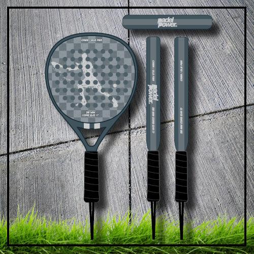 padel tennis racket Square grey white carbon