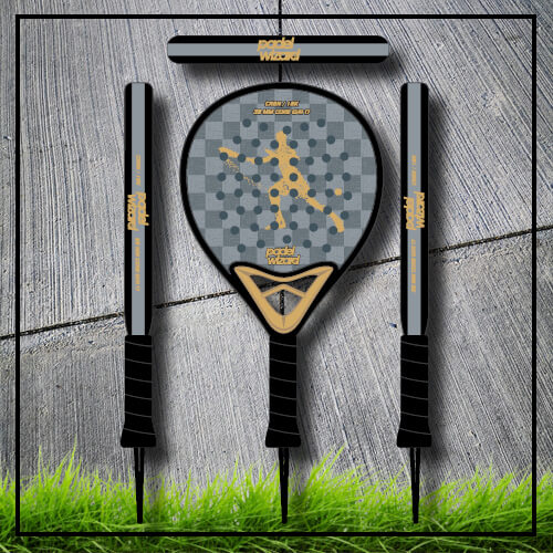 padel tennis racket Yaz gold blackcarbon