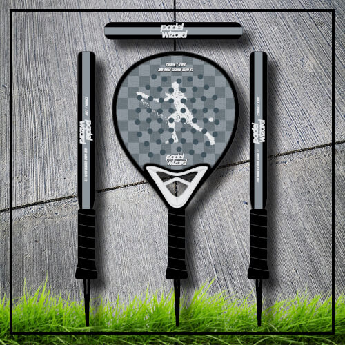 padel tennis racket Yaz black yellow carbon