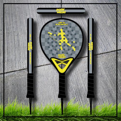 padel tennis racket Yaz yellow carbon