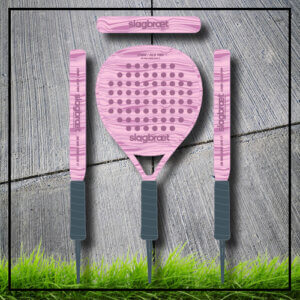 Padel tennis racket camouflage camo rose carbon