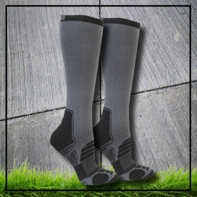 Compression socks reflex grey