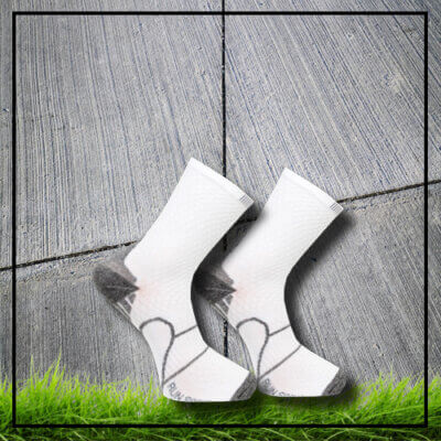 Long sports socks reflex white